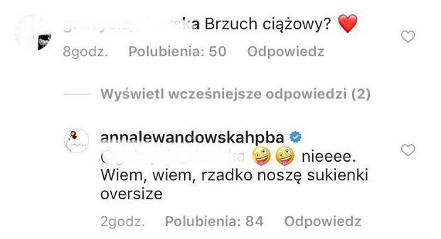 Anna Lewandowska dementuje plotki o ciąży