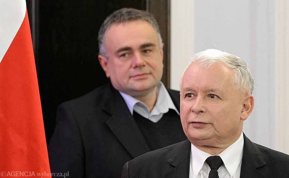 Jarosław Kaczyński i Tomasz Sakiewicz w Sejmie