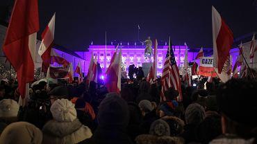 Manifestacja sympatyków 'Gazety Polskiej'