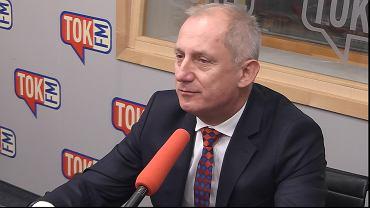 Sławomir Neumann w studiu TOK FM.