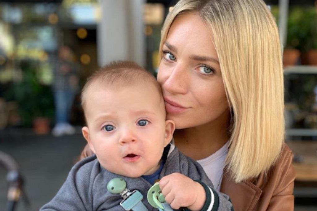 Martyna Gliwińska z synem