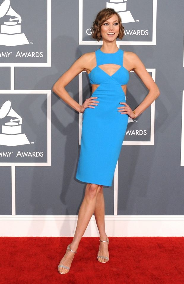 Karlie Kloss arrives at the 55th annual Grammy Awards on Sunday, Feb. 10, 2013, in Los Angeles. (Photo by Jordan Strauss/Invision/AP)