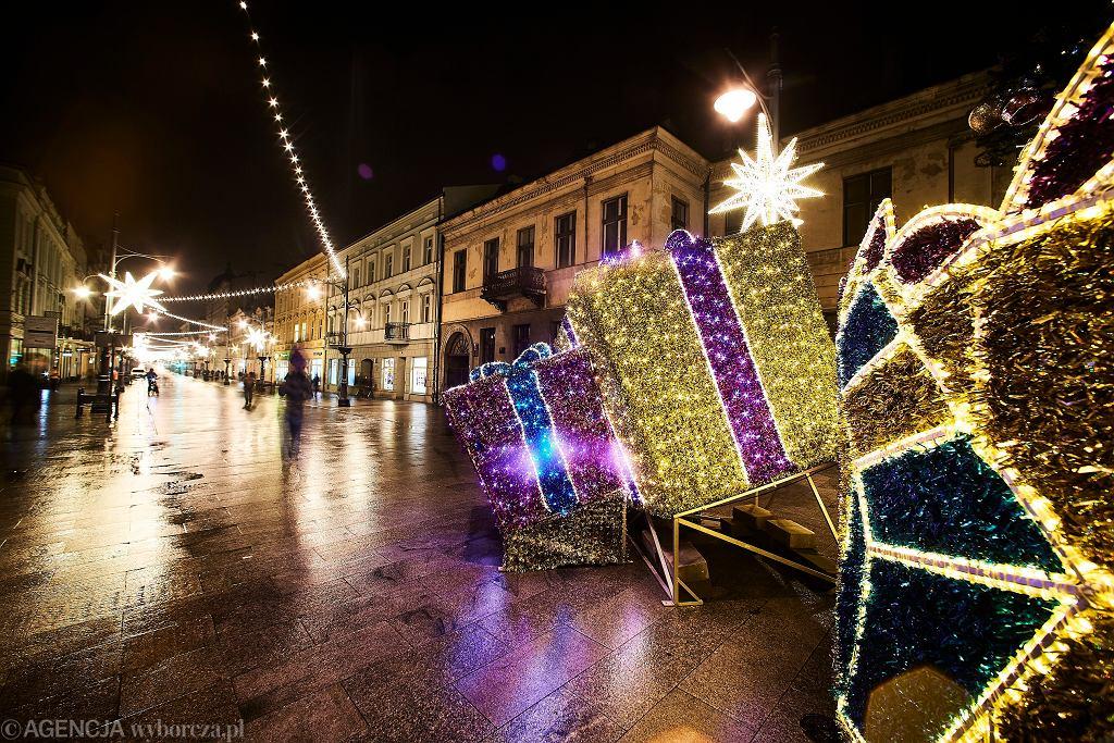Boże Narodzenie. Dekoracje świąteczne w Łodzi
