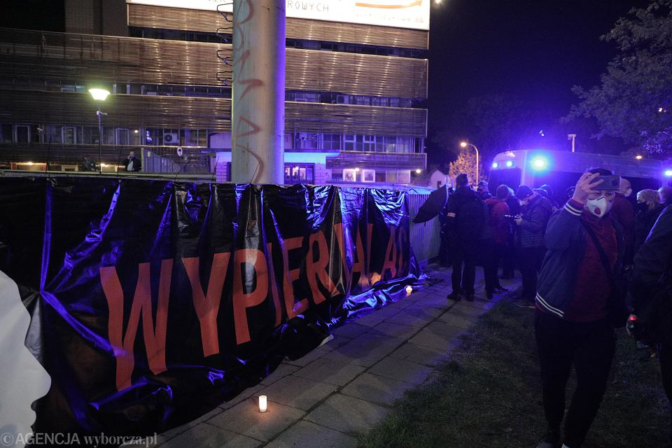 Protest pod Trybunałem Konstytucyjnym po wyroku ws. prawa aborcyjnego