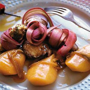 Wątróbka z rabarbarem i sosem pomarańczowym