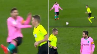 Lionel Messi wściekły na decyzję sędziego w meczu Deportivo Alaves - FC Barcelona