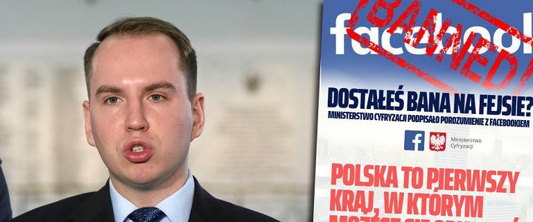 Andruszkiewicz zachęcał do walki z Facebookiem. Ministerstwo podało wyniki