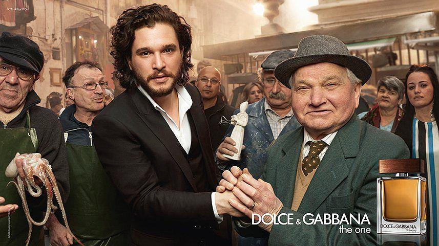 Emilia Clarke i Kit Harington w kampanii Dolce & Gabbana 'The One'