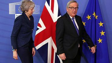 Brexit. Premier Wielkiej Brytanii Theresa May i szef KE Jean-Claude Juncker w Brukseli