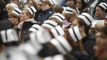 Protest pielęgniarek i położnych w Gdańsku w 2014 roku