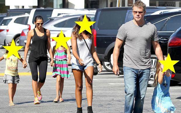Matt Damon z rodziną