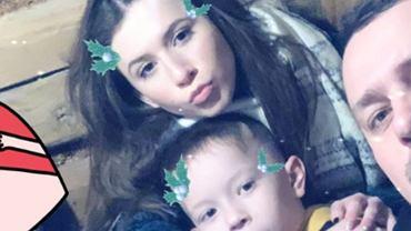 Roksana Węgiel z tatą i bratem
