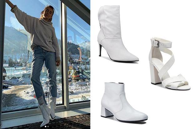 białe buty damskie / mat. partnera / www.instagram.com/nataliasiwiec.official/