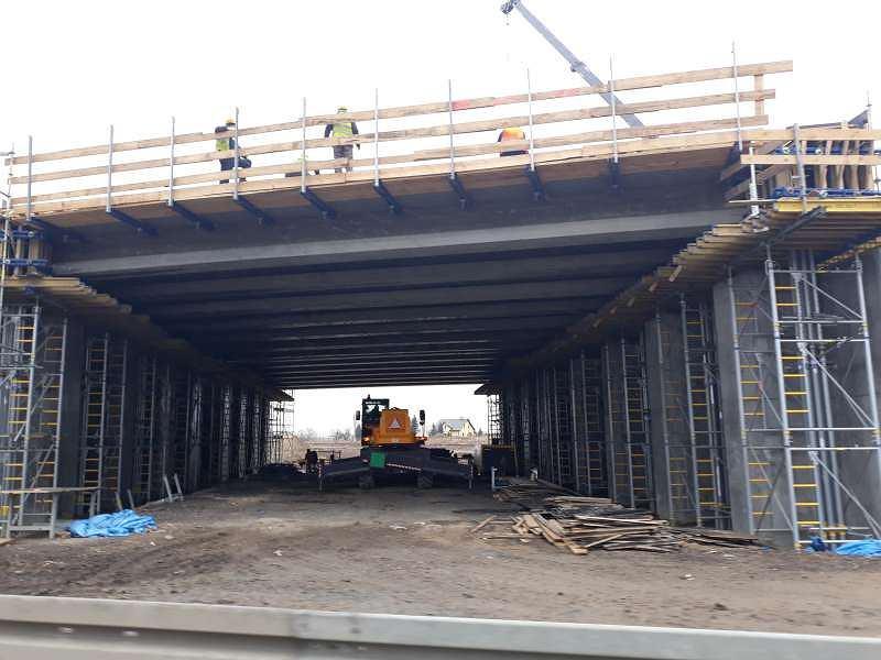 Odcinek nr 1 budowanej drogi ekspresowej S5 w kujawsko-pomorskim, miejscowość Wiąg