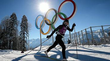 Trening Justyny Kowalczyk - na trasach olimpijskich w Soczi
