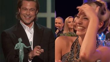 SAG Awards 2020. Brad Pitt odebrał statuetkę za rolę u Tarantino, ale najwięcej wygrał swoją przemową. Sala pękała ze śmiechu