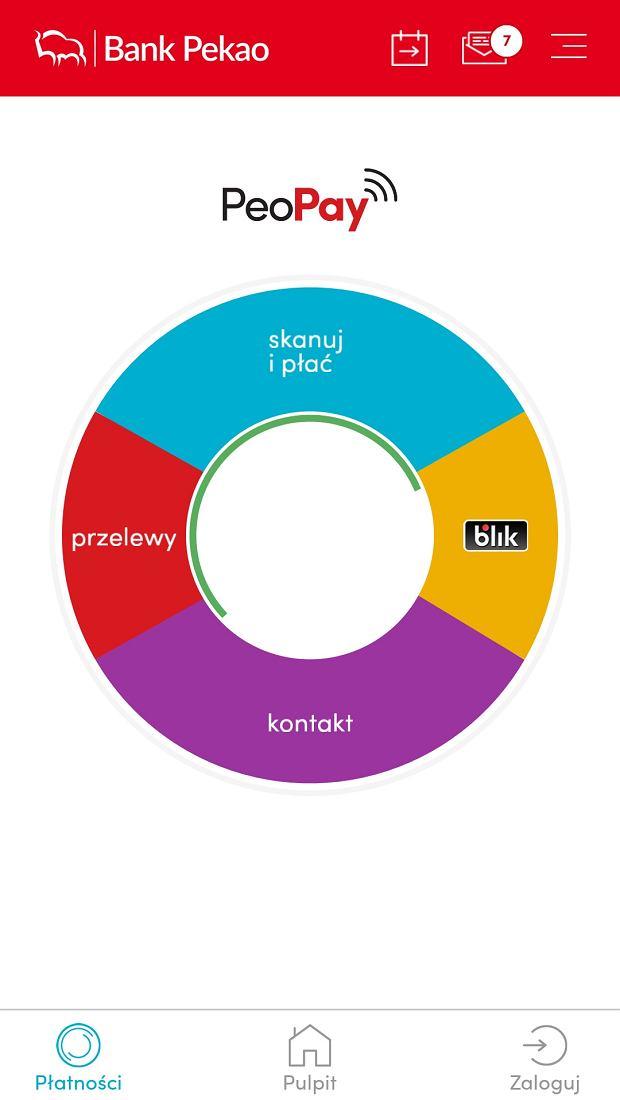 BLIK w aplikacji banku Pekao PeoPay