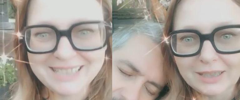 Kasia Nosowska z mężem żartuje z megxitu
