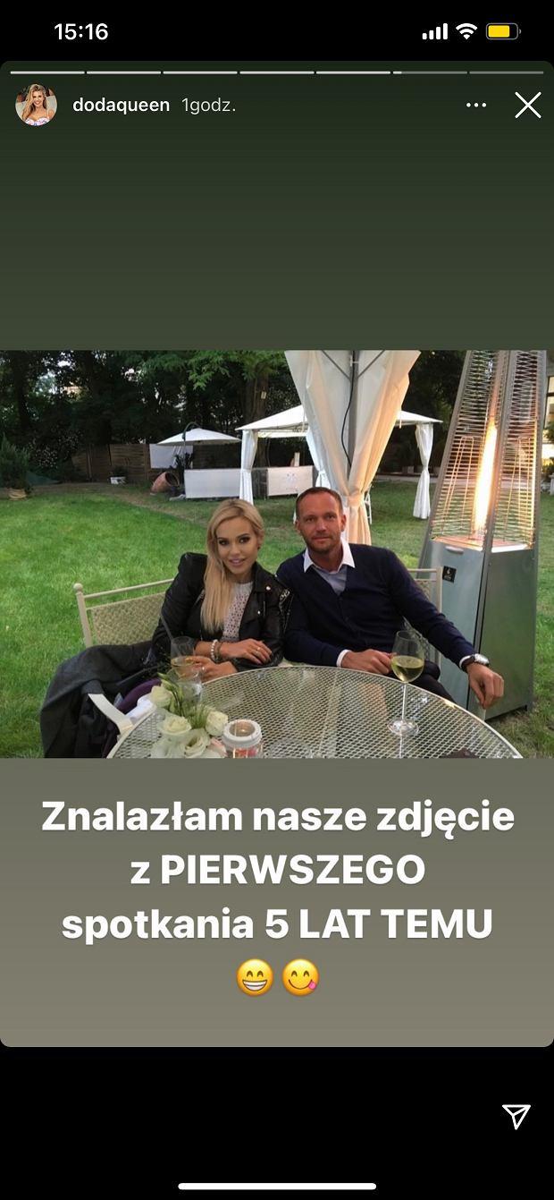 Doda opublikowała zdjęcie z pierwszej randki z okazji urodzin męża