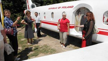 Czerwiec 2012, sanktuarium Matki Bożej Bolesnej w Kałkowie. Odsłonięcie makiety tupolewa, który rozbił się pod Smoleńskiem