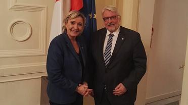 Witold Waszczykowski i Marine Le Pen