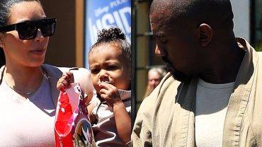 Kim Kardashian i Kanye West z córką