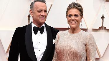 Tom Hanks i Rita Wilson podczas ceremonii rozdania Oscarów. 9.02.2020