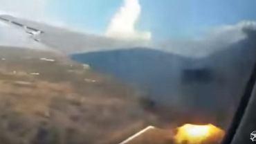 Katastrofa samolotu w RPA sfilmowana przez pasażera