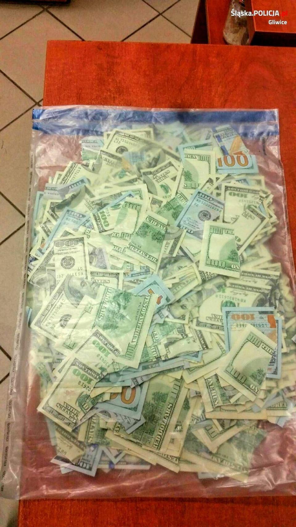 Zdjęcie numer 3 w galerii - 80-latka zgłosiła kradzież 40 tys. dolarów. Zostały pocięte na 1045 kawałków