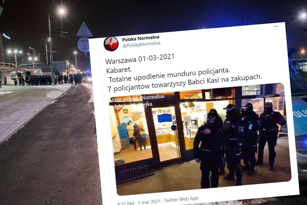 Policja 'towarzyszyła' Babci Kasi w zakupach