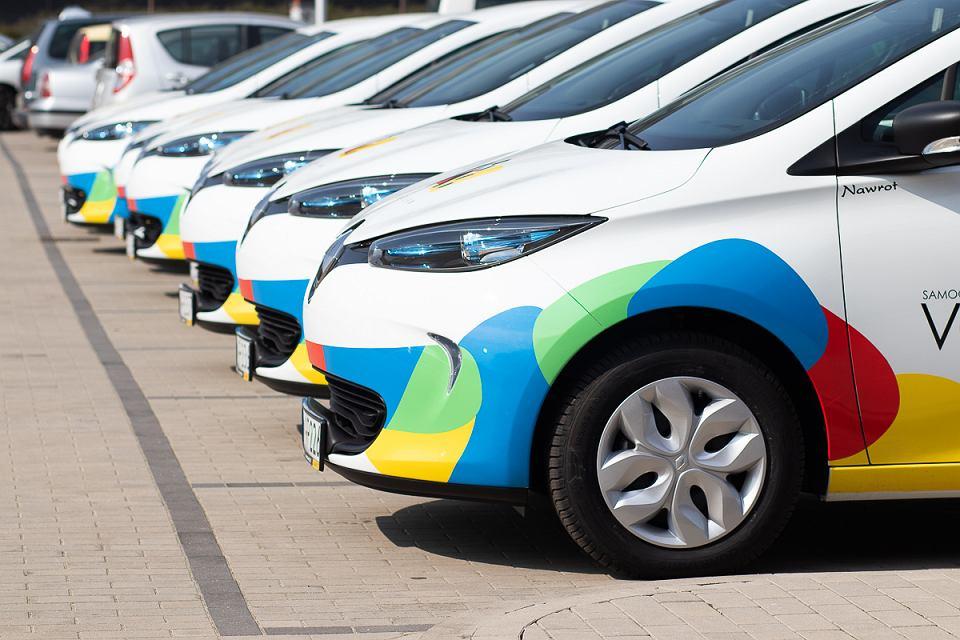 Samochody z wypożyczalni aut elektrycznych Vozilla