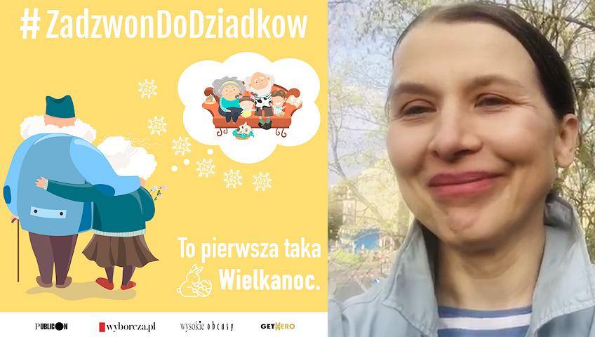 Katarzyna Herman w kampanii #ZadzwonDoDziadkow