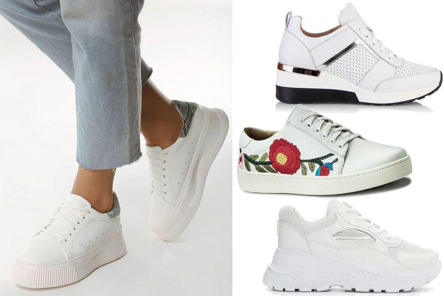 Białe sneakersy na wiosnę i lato