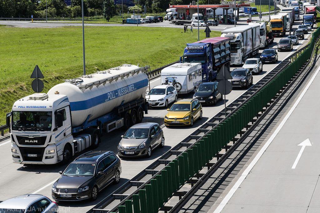 Korki na autostradzie A4