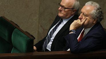 Prezes TK Andrzej Rzepliński i sędzia Stanisław Biernat