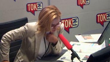 Dominika Wielowieyska w studiu radia TOK FM