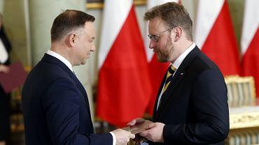 9.01.2018, Andrzej Duda powołuje Łukasza Szumowskiego na ministra zdrowia