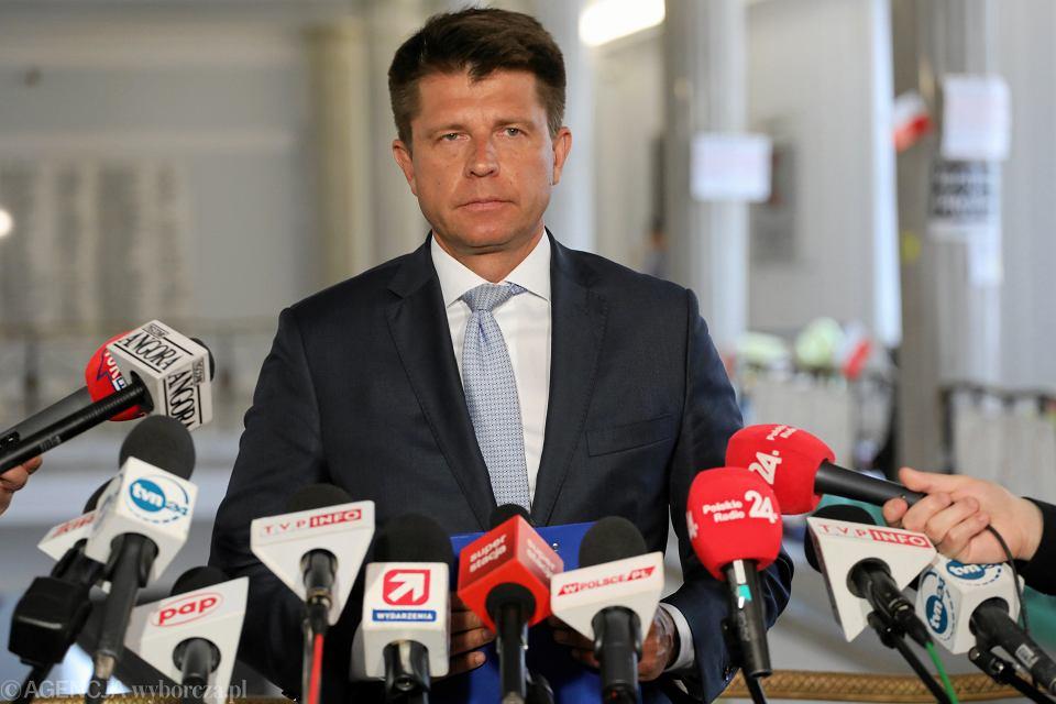 Konferencja prasowa Ryszarda Petru w Sejmie.