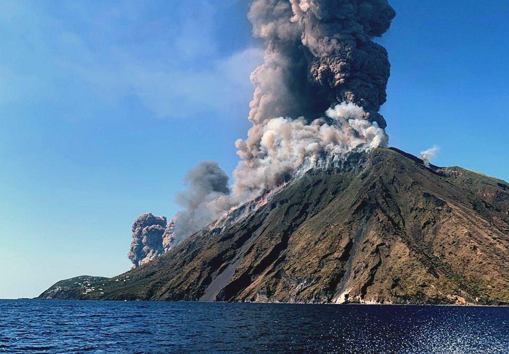 Wybuchu wulkanu na Stromboli