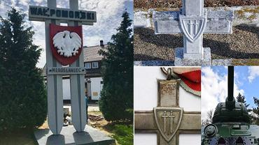 Miecze w Mirosławcu, mogiła w Siekierkach, odznaka i czołg polskich żołnierzy z Mirosławca