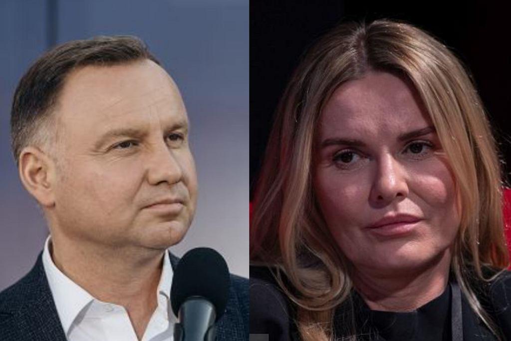 Andrzej Duda i Hanna Lis