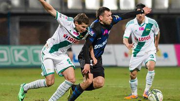 Zawisza - Lechia 0:3. Z lewej Patryk Tuszyński