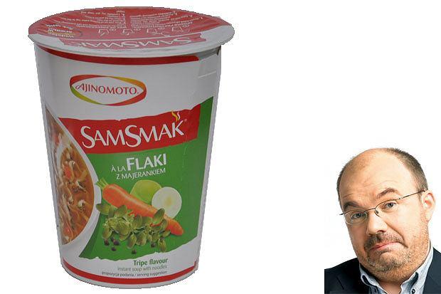 testowane matuszewskim, Testowane Matuszewskim: nowości smaczne i ohydne, SamSmak, zupa o smaku flaków, cena: 60 g - 2,19 zł