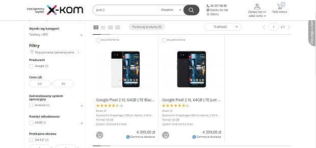 Google Pixel 2 XL 64 GB pojawił się w polskich sklepach za 4 399 zł