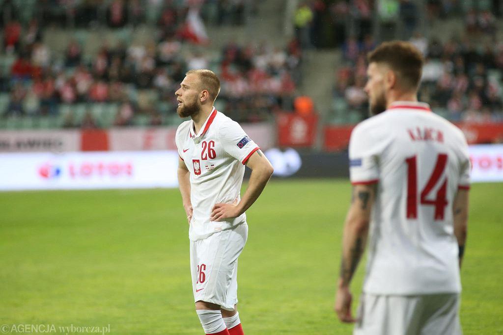 Polska - Rosja. Tymoteusz Puchacz (z lewej) zadebiutował w tym meczu w reprezentacji Polski