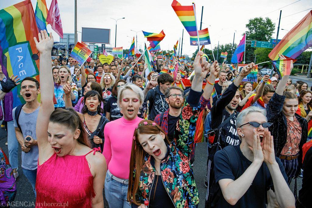 10 lipca 2019 r. Marsz Równości po raz 16. przechodzi ulicami Poznania