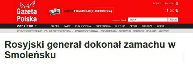 Zrzut strony Gazety Polskiej