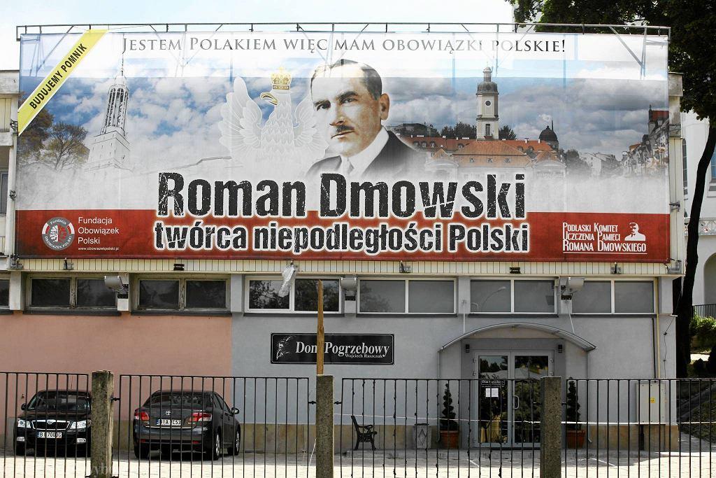 Billboard reklamujący ideę budowy pomnika