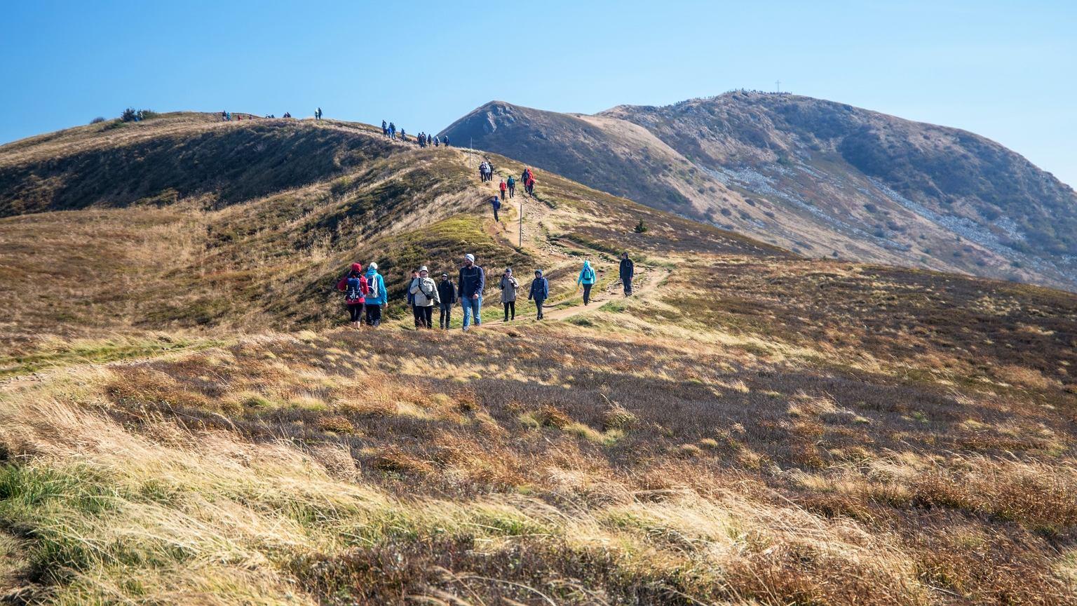 Z każdym rokiem wzrasta liczba turystów odwiedzających Bieszczady