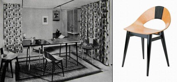 Krzesło 'Muszelka'  projektu Teresy Kruszewskiej